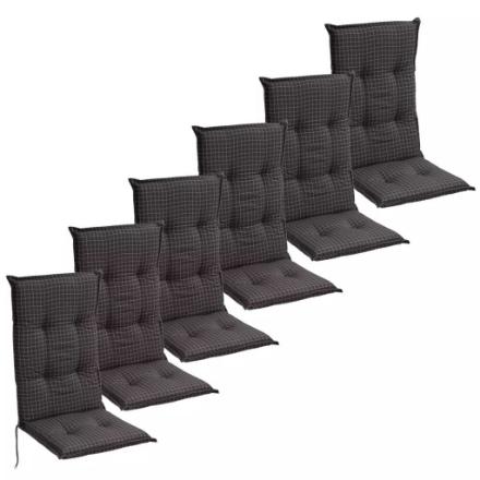 Cuscini con Schienale per Sedie da Giardino 6 Pezzi 117x49 cm Grigio