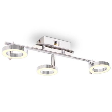 Illuminazione LED a Parete/da Soffitto con 3 Luci Bianco Caldo