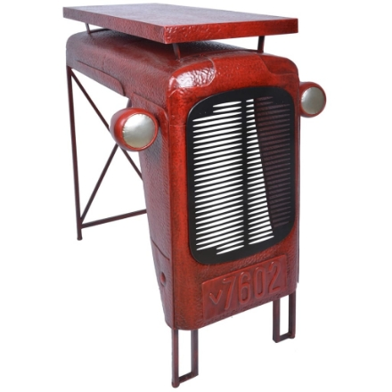 Esschert Design Tavolo Tractor Rosso IH033