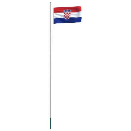 Bandiera della Croazia con Pennone in Alluminio 6,2 m