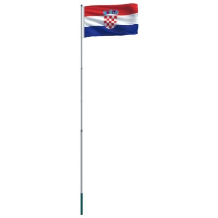 Bandiera della Croazia con Pennone in Alluminio 6 m