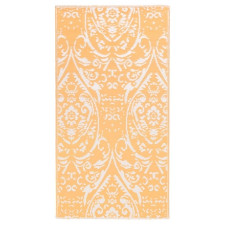 Tappeto da Esterni Arancione e Bianco 120x180 cm in PP