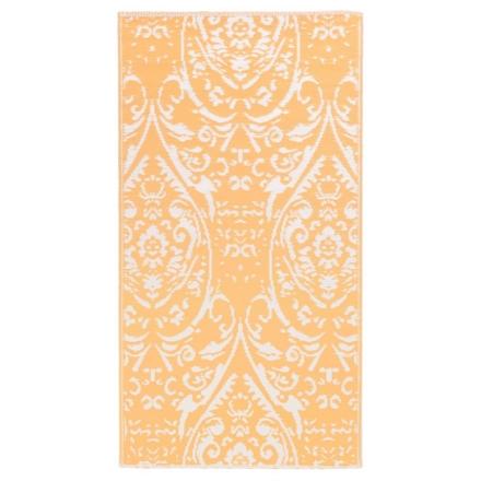 Tappeto da Esterni Arancione e Bianco 190x290 cm in PP