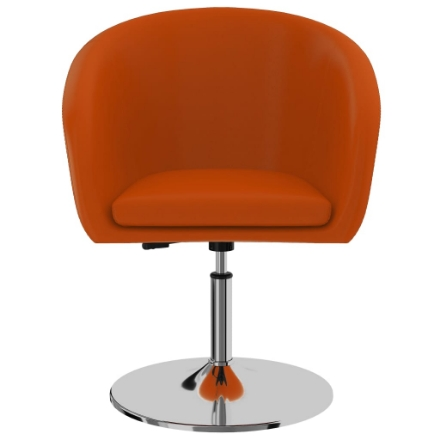Sedia da Pranzo Arancione in Similpelle