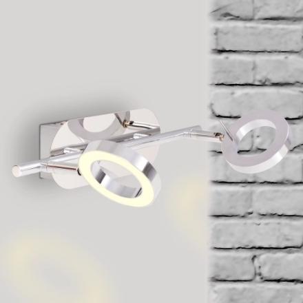 Illuminazione LED a Parete/da Soffitto con 2 Luci Bianco Caldo