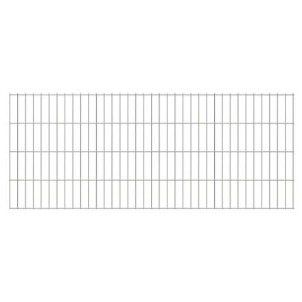 2D Pannelli di Recinzione 2,008x0,83 m 18 m (Totale) Argento