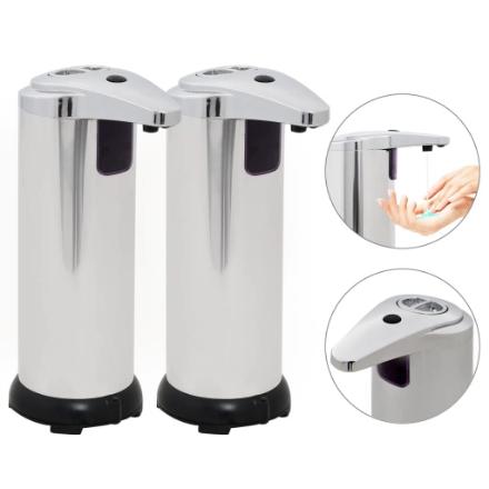 Dispenser Sapone Automatico 2 pz Sensore a Infrarossi 600 ml