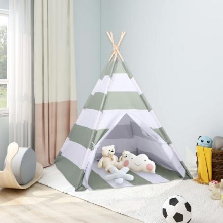 Tenda Tipi per Bambini con Borsa Rosa Microfibra 120x120x150cm