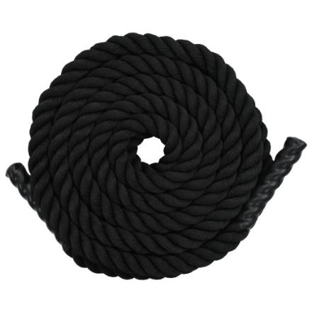 Battle Rope 15 m in Poliestere Nero