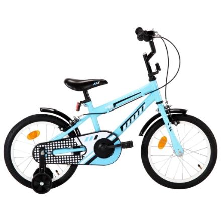 Bici per Bambini 16 Pollici Nera e Blu