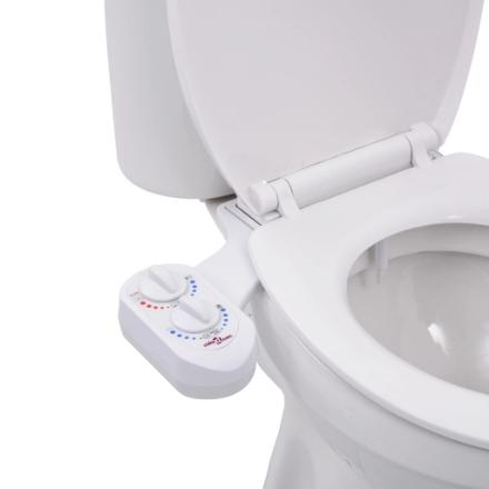 Bidet Accessorio per WC Acqua Calda e Fredda a Ugello Singolo