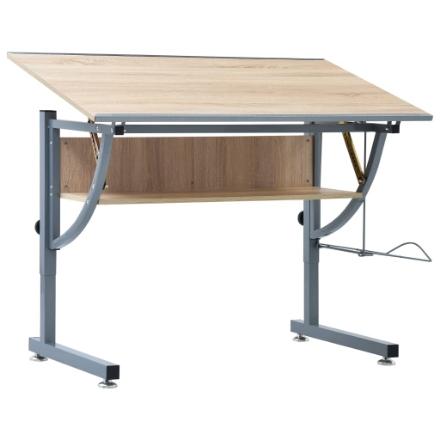Tavolo da Disegno per Ragazzi Rovere 110x60x87 cm in MDF