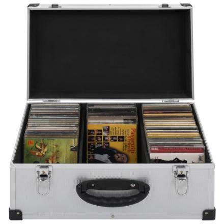 Custodia CD per 60 CD in Alluminio ABS Argento