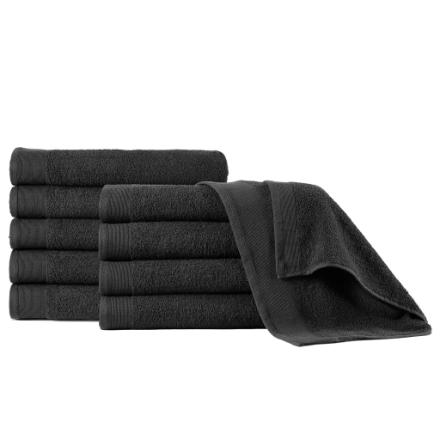 Asciugamani 5 pz in Cotone 450 gsm 50x100 cm Neri