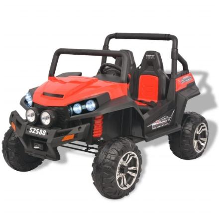 Auto Elettrica Cavalcabile 2 Persone Bambini XXL Rossa e Nera