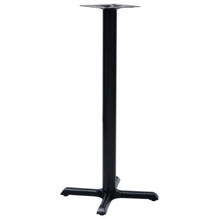 Gamba per Tavolino da Bar Nero 56x56x107 cm in Ghisa