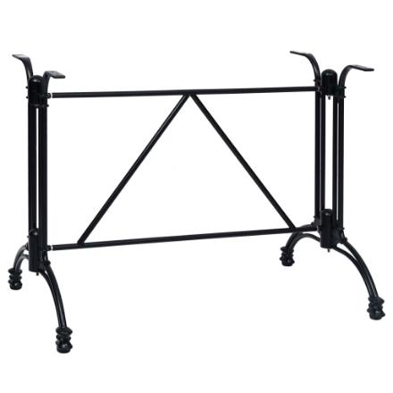 Gamba per Tavolino da Bar Nero 93x60x72 cm in Alluminio