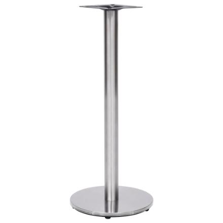 Gamba per Tavolino da Bar Argento Ø45x107 cm in Acciaio Inox