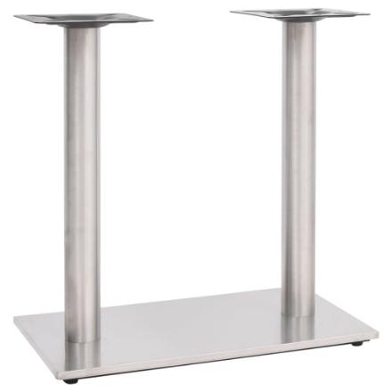 Gamba per Tavolino da Bar Argento 70x40x72 cm in Acciaio Inox