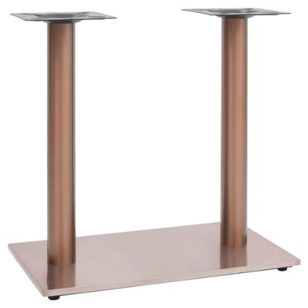 Gamba per Tavolino da Bar Ottone 70x40x72 cm in Acciaio Inox