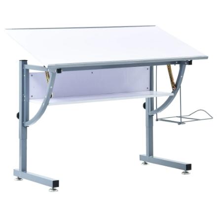 Tavolo da Disegno per Ragazzi Bianco 110x60x87 cm in MDF