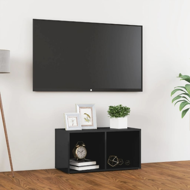 Mobile Porta TV Grigio Lucido 72x35x36,5 cm in Truciolato