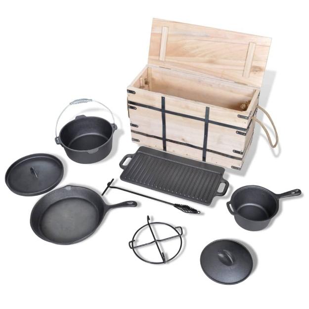 Set forno olandese 9 pz
