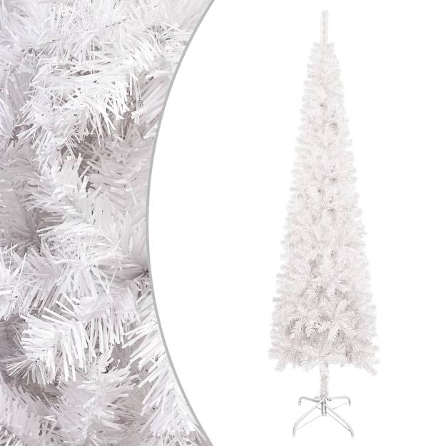 Albero di Natale Sottile Bianco 150 cm