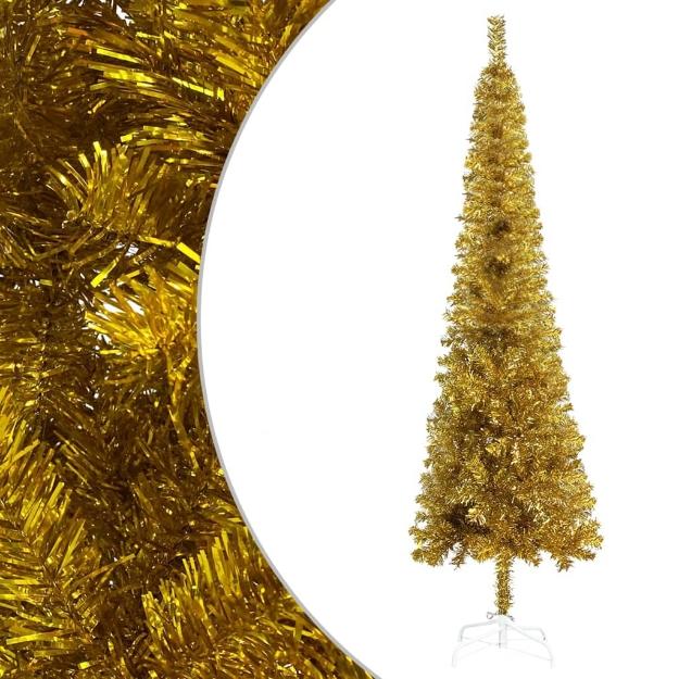 Albero di Natale Sottile Oro 120 cm