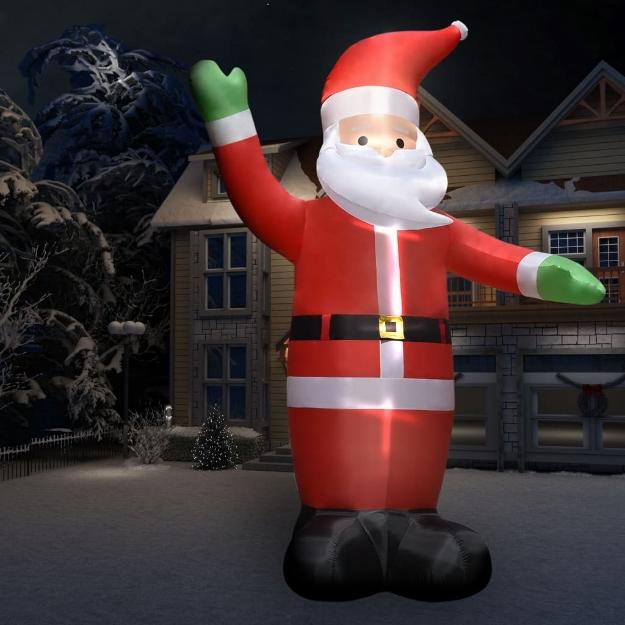 Babbo Natale Gonfiabile 10 m XXL Soffiante ad Alta Pressione