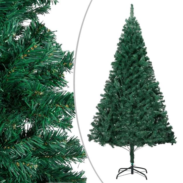 Albero di Natale Artificiale con Rami Folti Verde 120 cm PVC