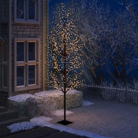 Albero di Natale 1200 LED Bianco Caldo Ciliegio in Fiore 400 cm