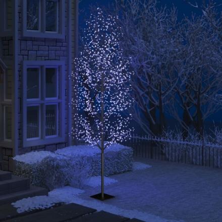 Albero di Natale 1200 LED Blu Ciliegio in Fiore 400 cm
